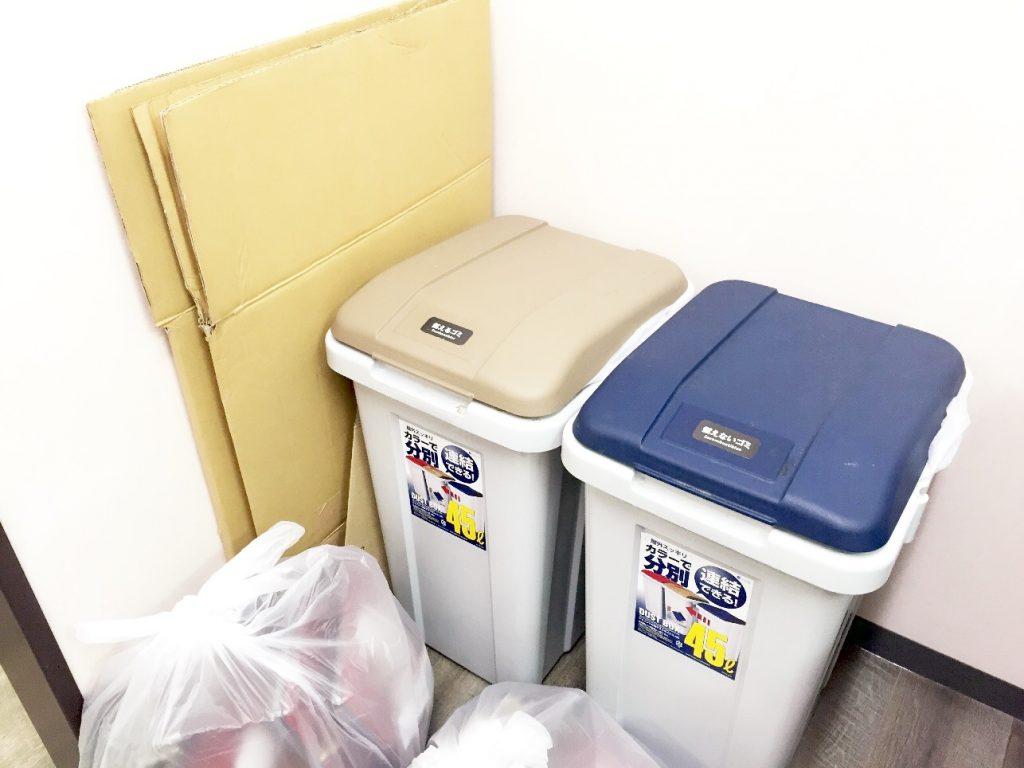 ゴミ捨てに便利